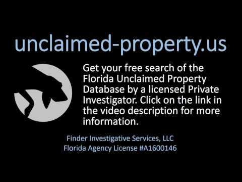 Find Florida Unclaimed Money and Other Property