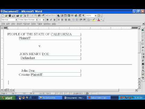 Create Court Docs in Word Part 1 of 3