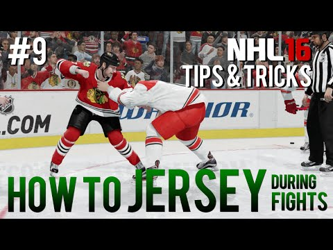 NHL 16: Tips & Tricks #9 - How to Jersey Opponent During a Fight