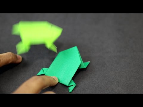 How to make an Easy Paper Jumping Frog