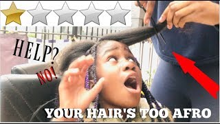 I WENT TO THE WORST RATED HAIR SALON IN MY CITY 😱  WORST HAIR STYLIST EVER!!