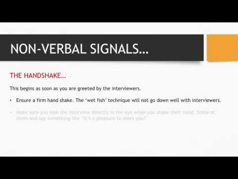 Interview Body Language - Important Tips to Ensure you Present Yourself Well in an Interview