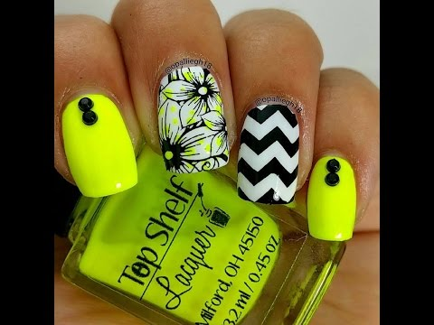 Neon for summer- Nailstamping