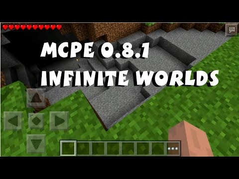 Infinite Worlds in Minecraft Pocket Edition 0.8.1 Lifeboat Servers