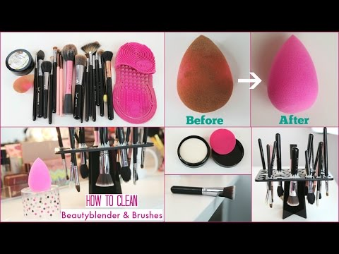 How to clean beauty blender sponge & brushes with solid cleanser | Arzan Blogs