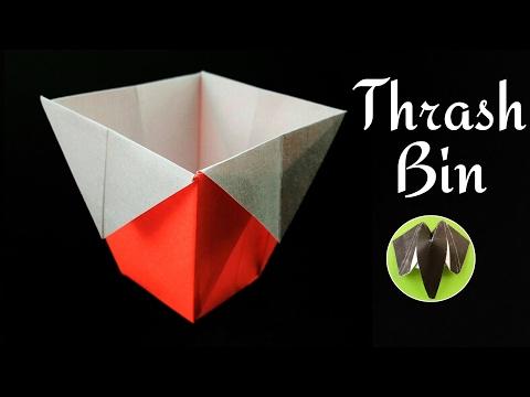 Easy to make TRASH BIN | DUSTBIN - DIY Tutorial by Paper Folds