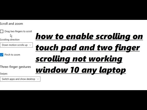 how to enable scrolling on touchpad windows 10 2018