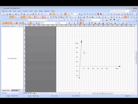 Draw a function plot in Visio