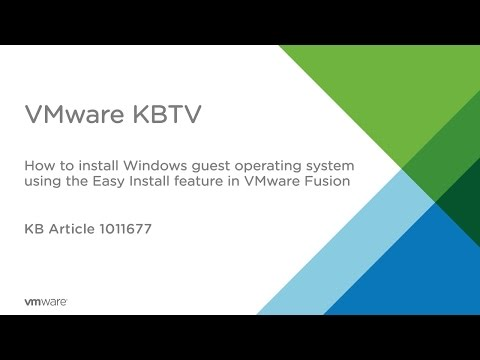 How to install Windows guest operating system using the Easy Install feature in VMware Fusion