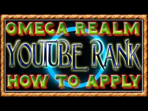 Omega Realm Minecraft Server | How to get YOUTUBE RANK!! [Step by step Tutorial]