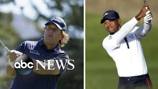 Tiger Woods and Phil Mickelson discuss high-stakes matchup