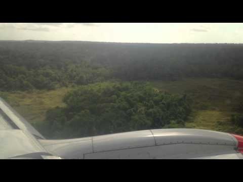 Embrayer 190 landing on Christmas Island