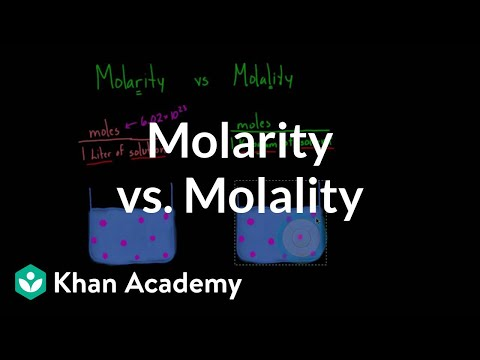 Molarity vs. molality | Lab values and concentrations | Health & Medicine | Khan Academy