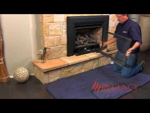 Cleaning the Glass On Fireplaces with Louvers