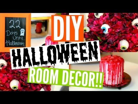 DIY HALLOWEEN ROOM DECOR | 3 Easy & Affordable Ideas + Epic FAIL!!