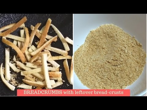 Bread-crumbs with leftover crusts | How to make bread crumbs at home | Nessa's Kitchen