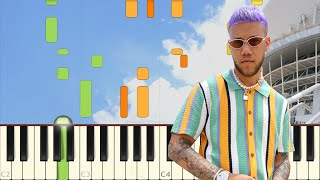 No Me Conoce (Remix) - Jhay Cortez, J. Balvin, Bad Bunny - Piano - Synthesia