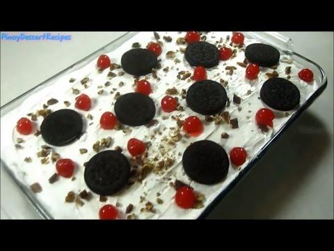 💓 No Bake Oreo Ice Cream Cake - Pinoy Dessert Recipes