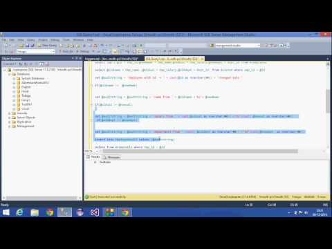 28.SQL Server Tutorial-Telugu (DML After Trigger for Update Statement)
