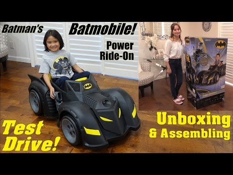 Power Wheels Toy Car! Batman's Batmobile Ride-On Car Unboxing, Assembling and Playtime