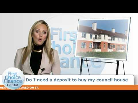Do I need a deposit to buy my council house?