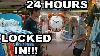 24 HOUR CHALLENGE AT SURF SHOP (SNEAKING IN)GONE WRONG