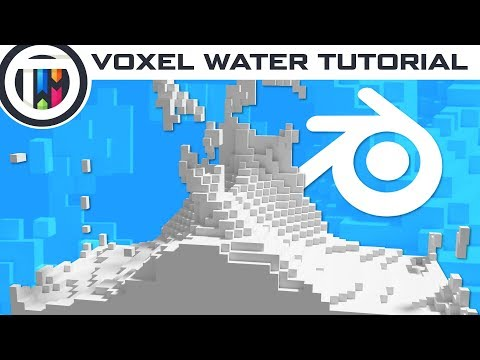 Blender Tutorial - Voxel Style Water Simulation