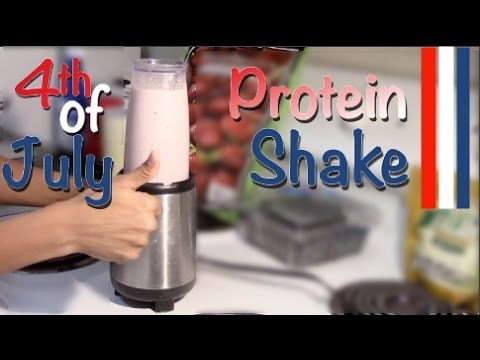 Happy 4th of July!! Red White and Blue Protein Shake - let's celebrate!