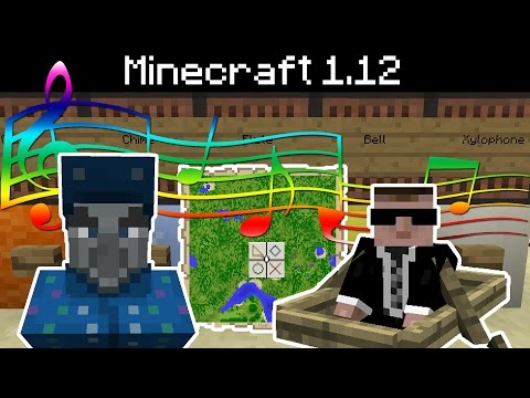 Minecraft 1.12 - New Sounds, Note Block (Guitar, Chime, Bell, Flute, Xylophone), Advancement Changes