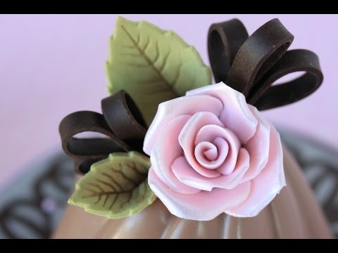 How to Make Chocolate Roses and Leaves
