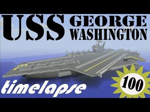 [Minecraft Xbox 360] Timelapse Aircraft Carrier (USS George Washington CVN-73)