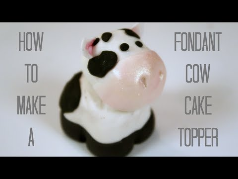 FONDANT COW | HOW TO MAKE FONDANT FARM ANIMAL CUPCAKE TOPPERS | CREATIVITY WITH SUGAR
