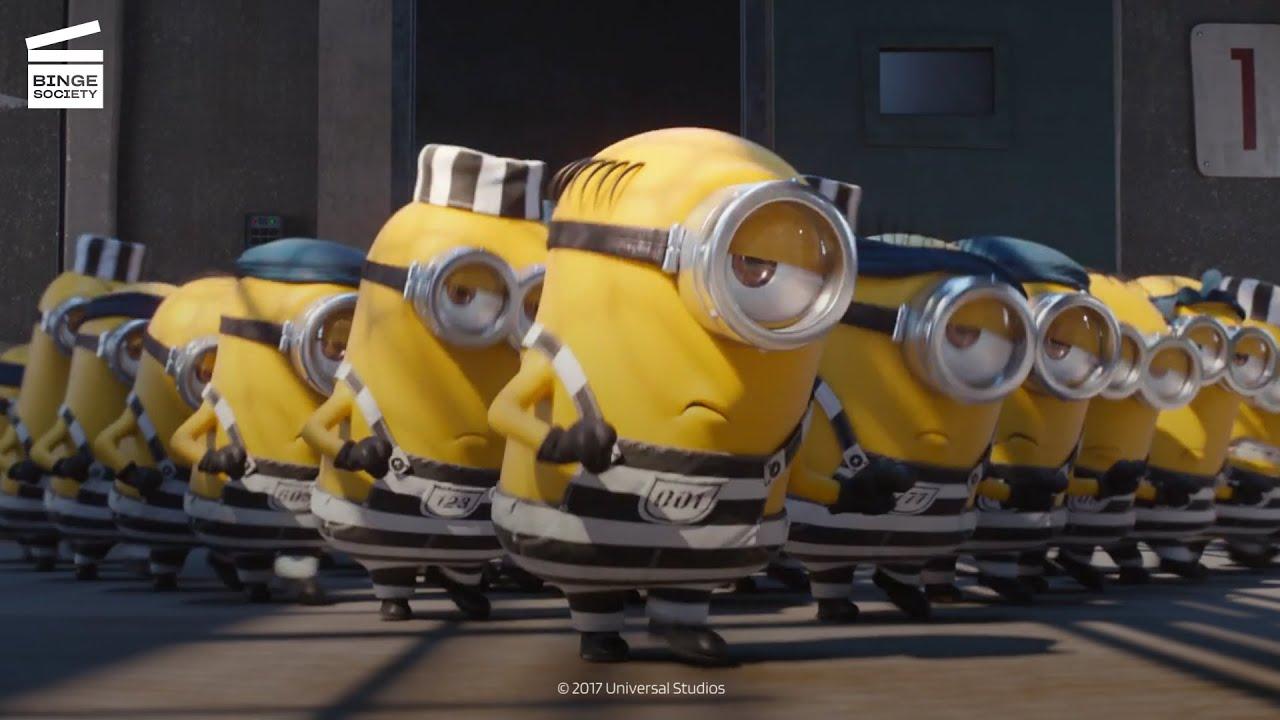 Despicable Me 3: The Minions Run the Prison HD CLIP