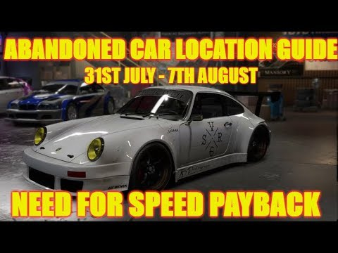 Need For Speed Payback Abandoned Car (7) - GALLO PORSCHE 911 CARRERA RSR - Location Guide & Gameplay