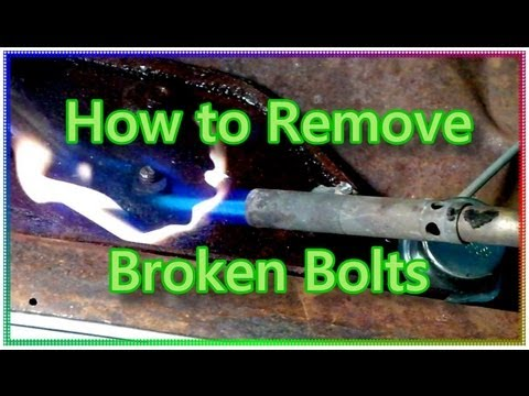 How to Remove Broken, Rusty Bolts