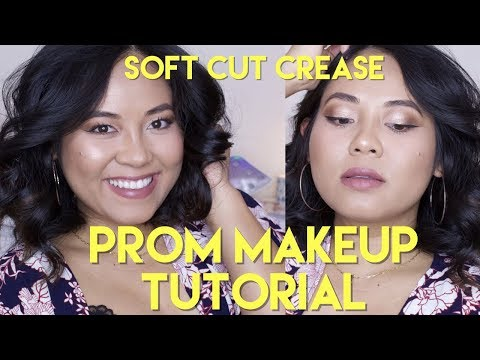 Prom Makeup Tutorial for Coffee Lover| Soft Cut Crease