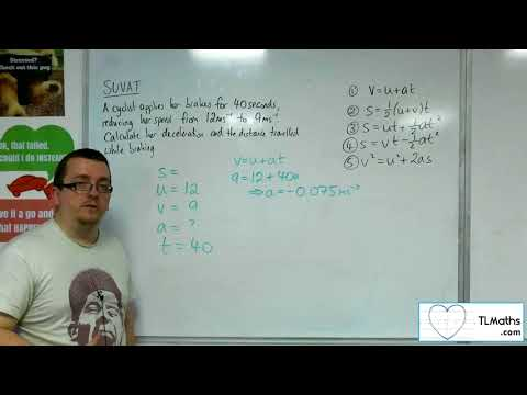 A-Level Maths 2017 Q3-04 [SUVAT: Using the Formulae Example 3]