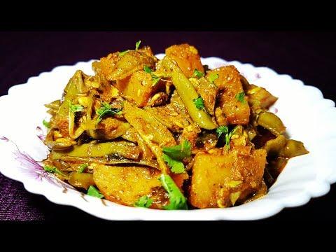 वालोर की सब्जी नए तरीके से Aloo Valor Sabzi Aloo sabji valor sabji Aloo ki sabzi boiled potatoes