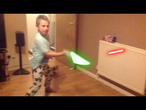lightsaber fx video done using only an iPad