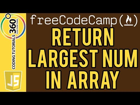 Return Largest Numbers in Arrays: Basic Algorithm Scripting Free Code Camp