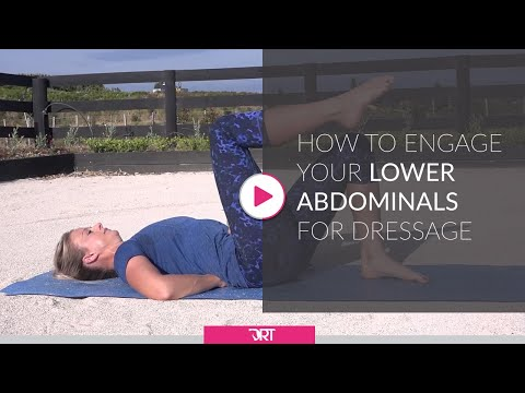 How To Engage Your Lower Abdominals For Dressage Riders