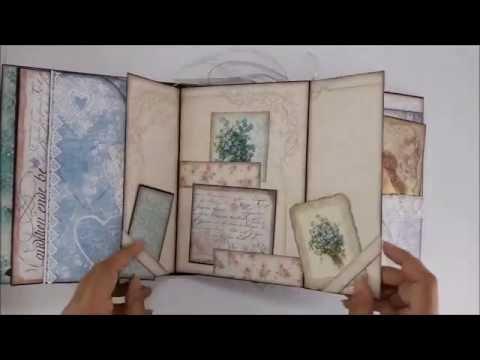 DannyCraftShop - Scrapbook Handmade Vintage Mini Album Journal #7 *SOLD*