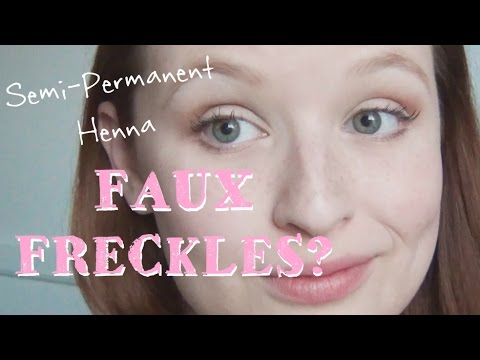 Semi Permanent Faux Freckles ♥ Henna Freckles Tutorial