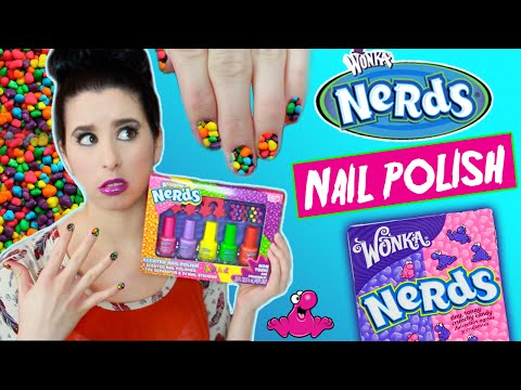 Nerds Candy Scented Nail Polish! | Tutorial | Smell Test | Willy Wonka's Nerd Nail Polish Demo!