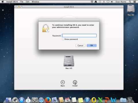 Apple Mavericks install proceeds while encrypting