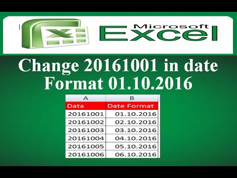 How to Change 20161001 in date format in Microsoft Excel