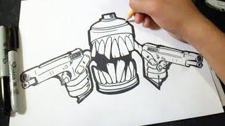 Cmo dibujar una Lata de Spray con Lapices  Graffiti  ZXx