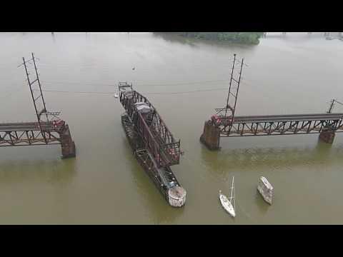 [HD] RARE Amtrak Susquehanna River Bridge Opening