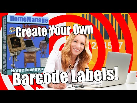 Create Your Own Barcode Labels Using HomeManage
