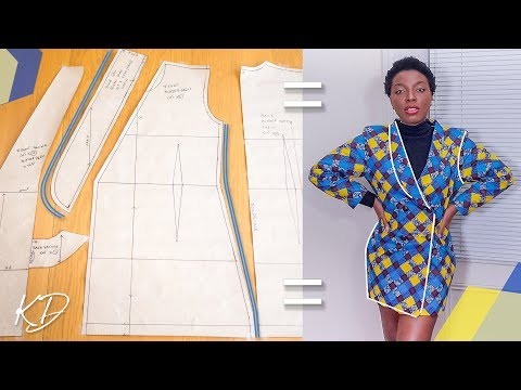 HOW TO: DRAFT BLAZER DRESS PATTERNS | KIM DAVE